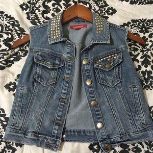 Sleeveless jean denim jacket forever 21 size small